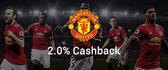 Machester United 2.0% Cashback