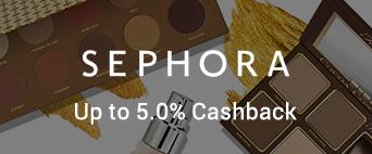 Sephora up to 5.0% Cashback