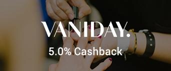 Vaniday 5.0% Cashback