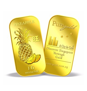 1g Pineapple Gold Bar