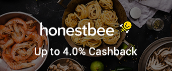 honestbee up to 4.0% Cashback