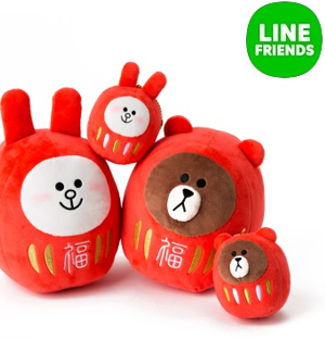 LINE Friends Daruma Doll