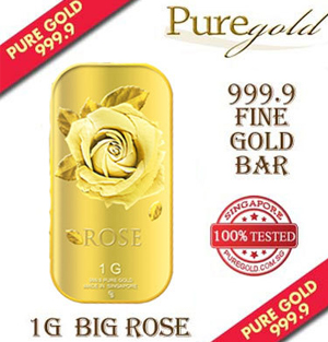 1g Big Rose Goldbar