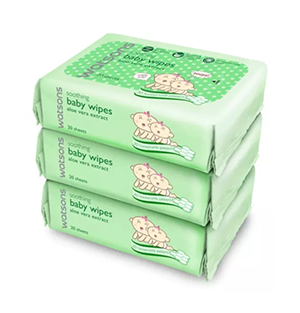 Watsons Soothing Baby Wipes (3 X 20's)
