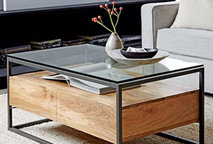 T-Fun (铁梵) Wooden lifestyle shelves and coffee tables that gives an industrial flair to your modern home