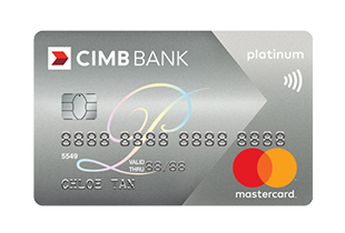 CIMB Platinum Mastercard. Cashback valid only for New-to-Bank Customers.