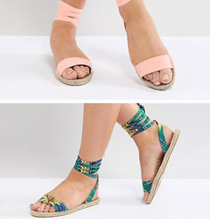 Two Pack Espadrille Sandals