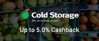 Cold Storage up to 5.0% Cashback