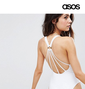 Strappy Ring Back Swimsuit