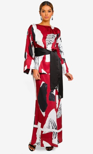 Abstract Printed Kurung