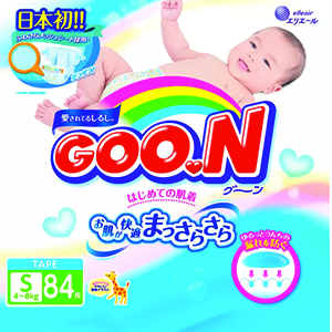 GOO.N Diapers S84 x 4 packs