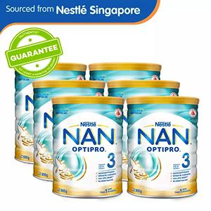 Nestlé® NAN® OPTIPRO® 3 Growing Up Milk 800g x 6 pcs
