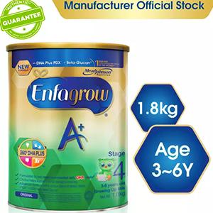 Enfagrow A+ Stage 4 Baby Formula Milk Powder 360DHA+ (3-6Y) 1.8kg