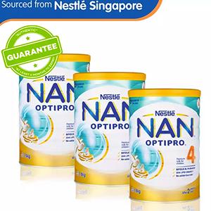 Nestlé® NAN® OPTIPRO® 4 Growing Up Milk 1.8kg x 3