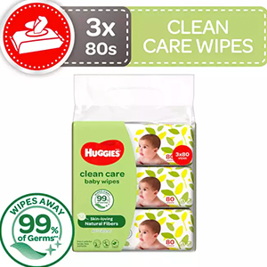 Huggies baby wipes clean care