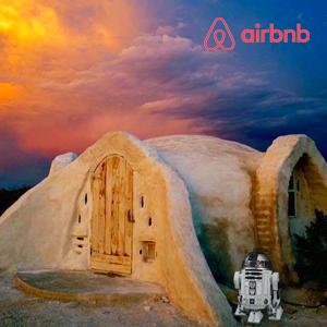 A remote adobe hut in the Texas desert