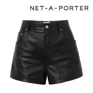 SAINT LAURENT Embellished leather shorts
