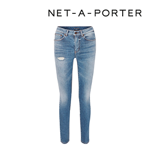 SAINT LAURENT Distressed low-rise skinny jeans