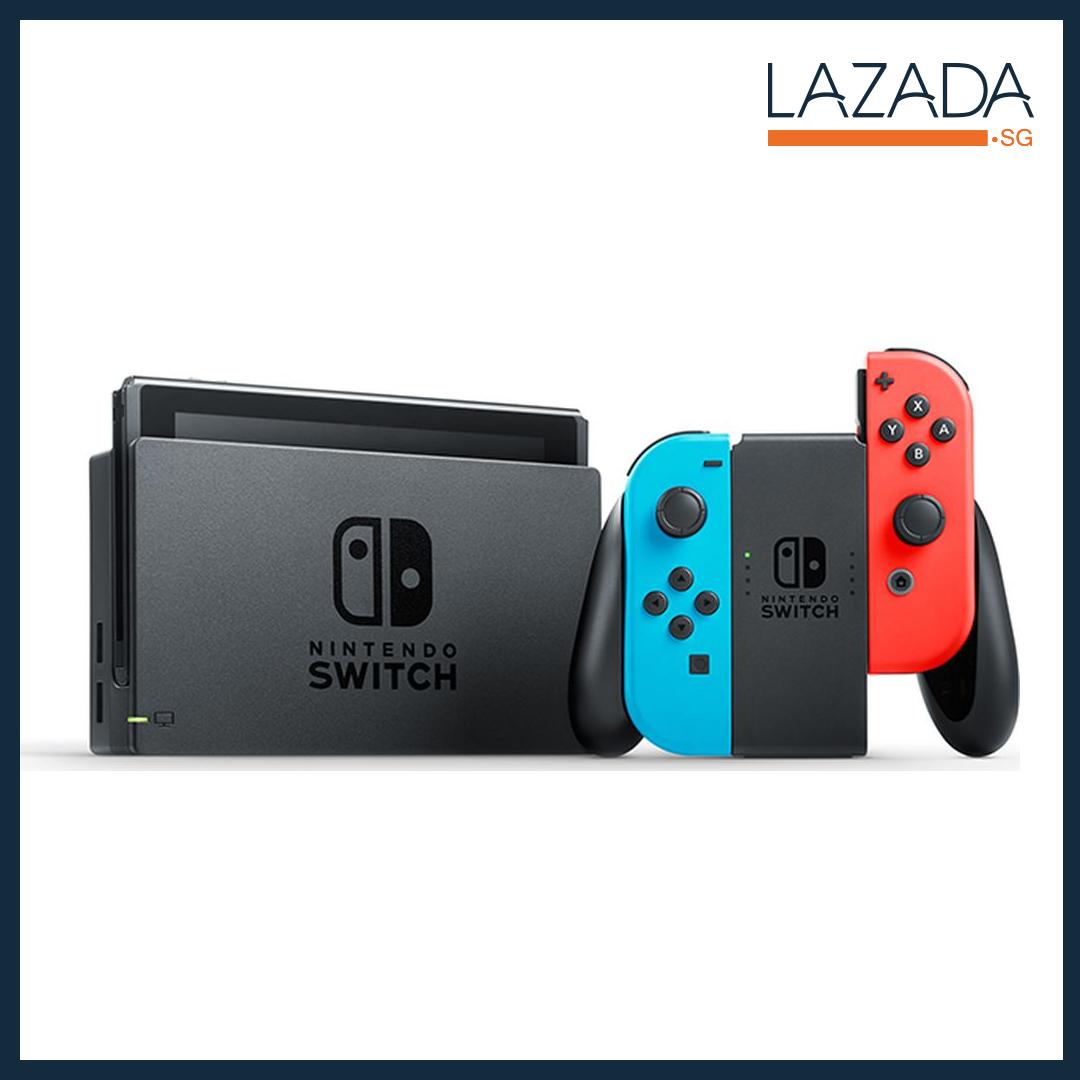Nintendo Switch Neon Console + 1 Year Local Warranty [Best Seller]