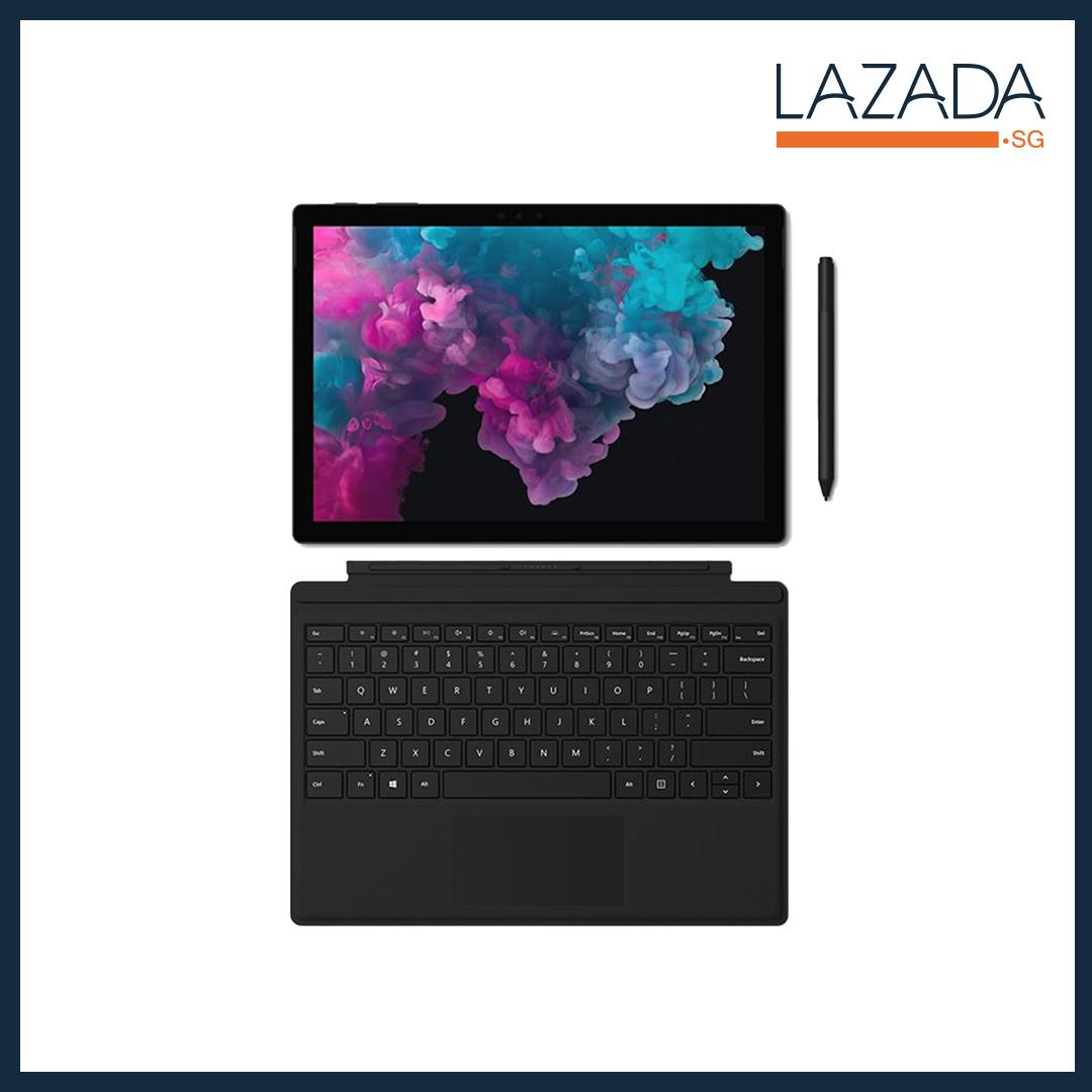 All BLACK bundle 2: MATTE BLACK Microsoft Surface Pro 6 (Business Model) Intel i5/8/256 + Black Typecover + Black Surface Pen