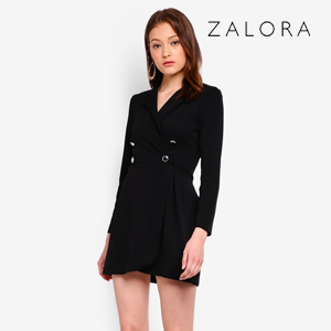 Pastel Blazer Style Shift Dress