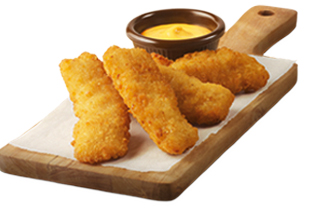FREE 4PC CHICKEN TENDERS WITH CHEESY SAUCE WITH MIN $40 SPENT