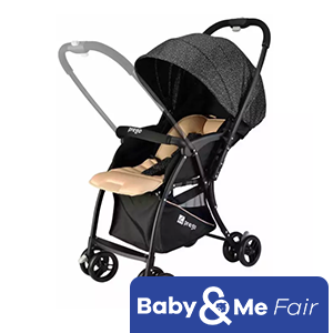 Prego S507 Simple Reversible Handle Stroller - Reversible Handle Stroller - ONLY 4.2KG - ADJUSTABLE FOOTREST - One hand fold