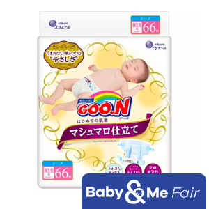 GOO.N Marshmallow Premium Soft Diapers NB (Up to 5kg) 66 x 4 Packs 264pcs