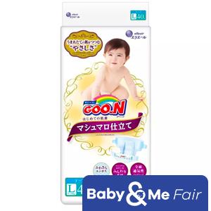 GOO.N Marshmallow Premium Soft Diapers L (8-14kg) 40 x 4 Packs 160pcs