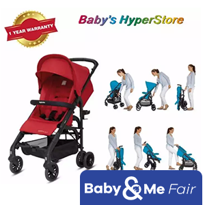Inglesina Zippy Light Stroller - Vivid Red - Lightweight & compact - Suitable from newborn to 25kg (Approx. 5 years) - Local seller warranty 1 YEAR