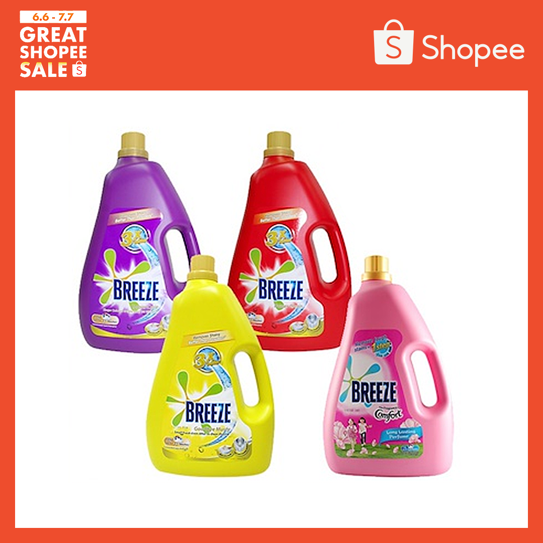 4 X Breeze Liquid Detergent 3.6kg/3.8kg (Carton Sales)-Anti Bac Front load New
