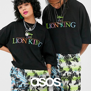 Disney The Lion King x ASOS DESIGN unisex oversized cropped t-shirt with rainbow logo