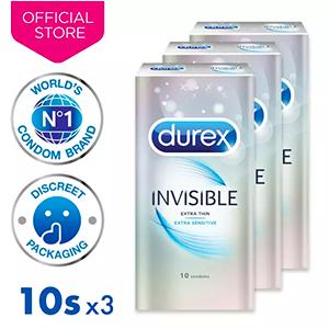 [Bundle of 3] Durex Invisible Extra Sensitive 10's