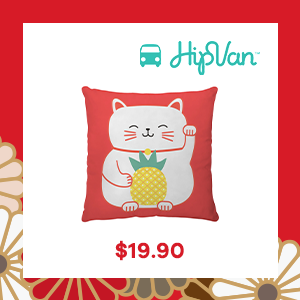 Pineapple Cat Cushion Cover from Home Basics by HipVan