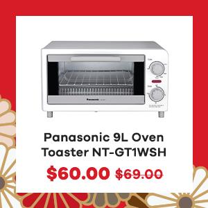 Panasonic 9L Oven Toaster NT-GT1WSH