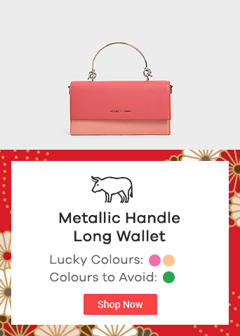 Metallic Handle Long Wallet