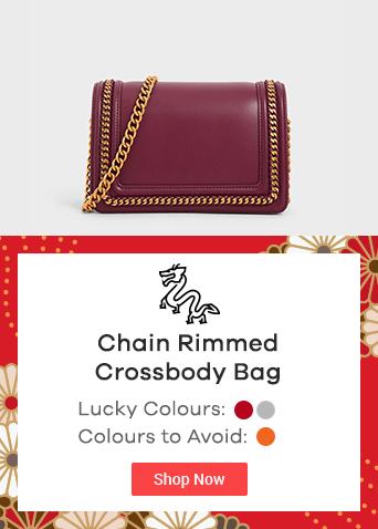 Chain Rimmed Crossbody Bag