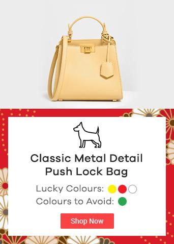 Classic Metal Detail Push Lock Bag