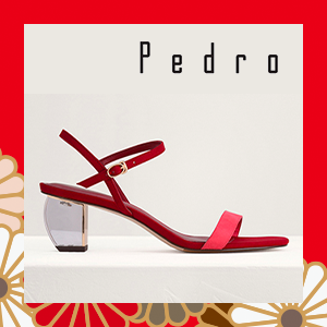 Ankle Strap Sandals with Lucite Heel