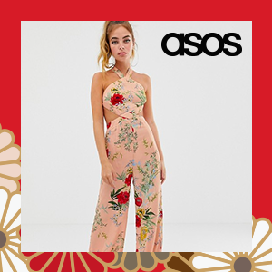 Boohoo Petite exclusive wide leg jumpsuit in pink floral with cut out detail