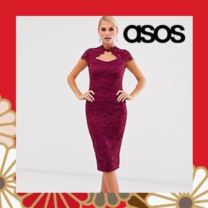 AX Paris lace capped sleeve bodycon dress