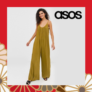 ASOS DESIGN Tall low back jumpsuit in crinkle