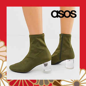 ASOS DESIGN Mercury chain loafer flat shoes in mint