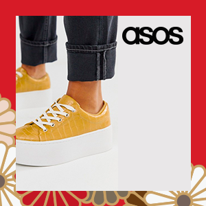 ASOS DESIGN Defender chunky flatform lace up trainers in mustard croc