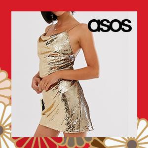 ASOS DESIGN cowl neck all over sequin mini cami dress