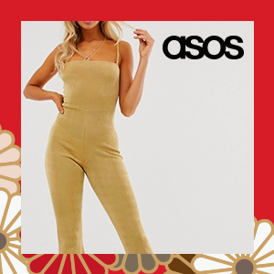 In The Style Slinky Square Neck Flared Leg Jumpsuit