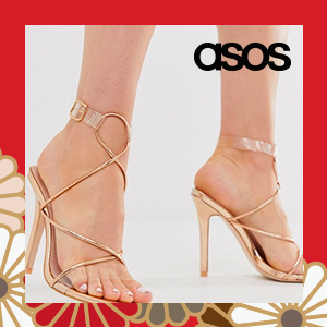 Public Desire Senseless barely there heeled sandals in rose gold