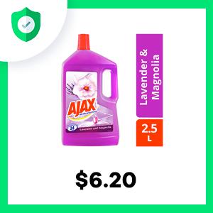 Ajax Aroma Sensations Lavender & Magnolia Multi Purpose Floor Cleaner 2.5L