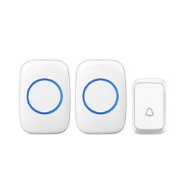 Smart wireless home one for two waterproof doorbells